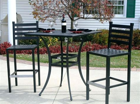 Patio Furniture Bar Set Bar Height Outdoor Patio Set Enzobrera
