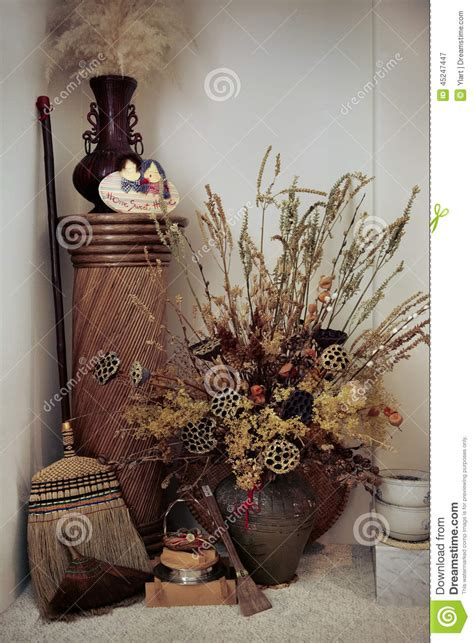 dry flowers decoration for home home decoration stock image image of indoors design