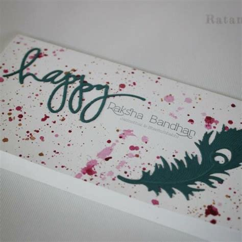 Handmade Greeting Cards For Raksha Bandhan - handmade rakhi card experimenting with colour a modern