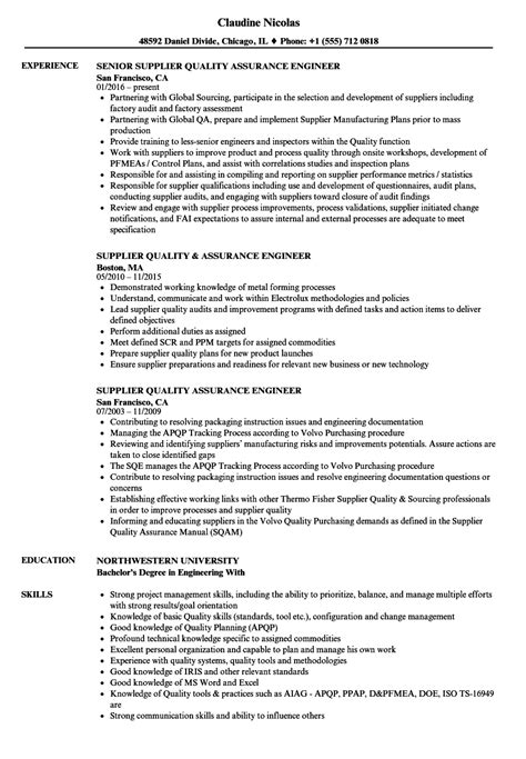 sle resume quality assurance engineer gallery