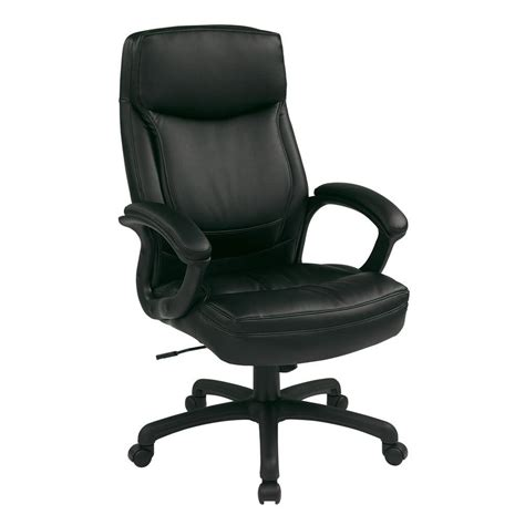 Work Smart Office Chairs by Work Smart Black Eco Leather Executive Office Chair Ec6583