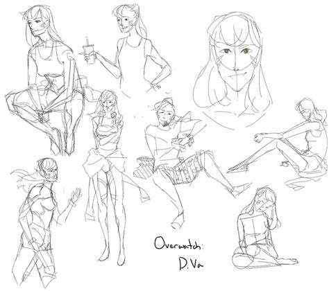D Va Sketches by Overwatch D Va By Namibot On Deviantart