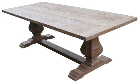 reclaimed trestle dining table custom dining tables handmade from traditional trestle