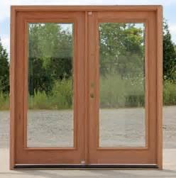 Exterior double doors full lite beveled glass