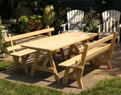 build a picnic table with detached benches instructions on how to build a picnic table with separate