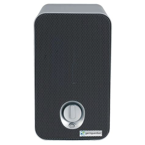 germguardian 3 in 1 hepa air purifier system with uv sanitizer and odor reduction 11 in table
