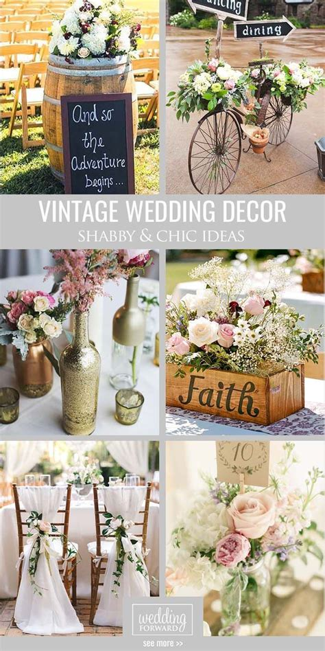 shabby chic vintage wedding decor ideas vintage