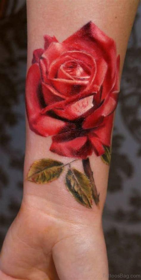 big rose tattoos 52 wrist colorful designs