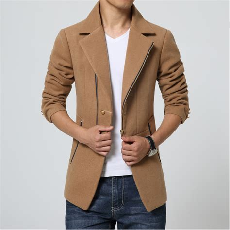 7 Best Pea Coats For Fall by Trench Coat Korean Fashion Blue Overcoat Thick