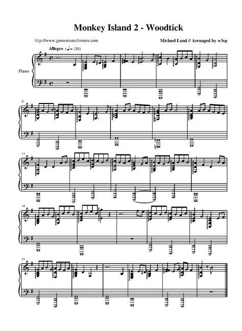 secret we the piano themes monkey island 2 lechuck s