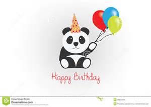 happy birthday panda vector stock vector image 48815208