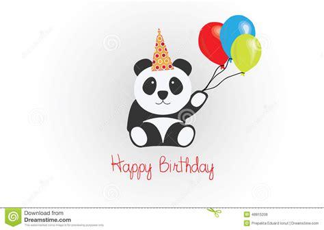 si鑒e de balan輟ire joyeux anniversaire panda vector illustration de vecteur