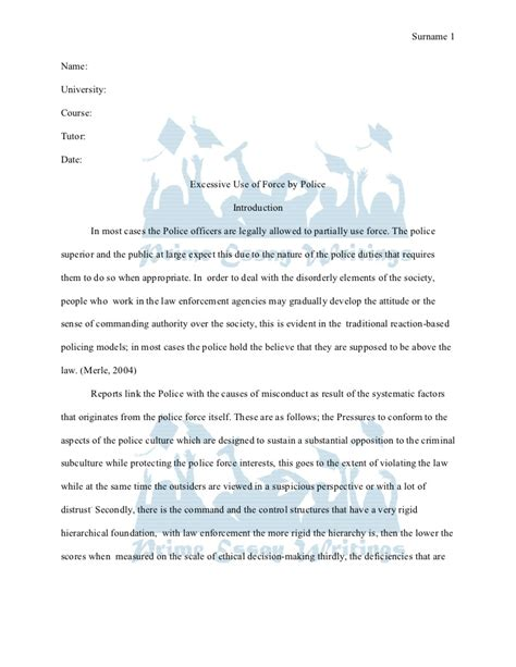 Surname Research Paper by Prime Essay Writings Term Paper Excessive Use Of By