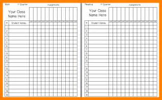 grade book template printable 12 printable gradebook template attendance sheet