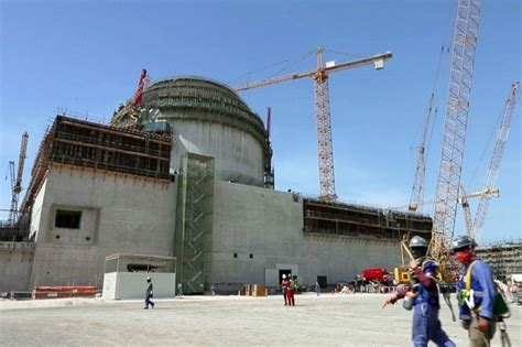 emirates nuclear energy corporation construction of unit 1 of barakah nuclear power plant is
