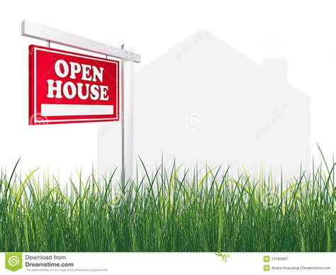 real estate sign open house royalty free stock photography