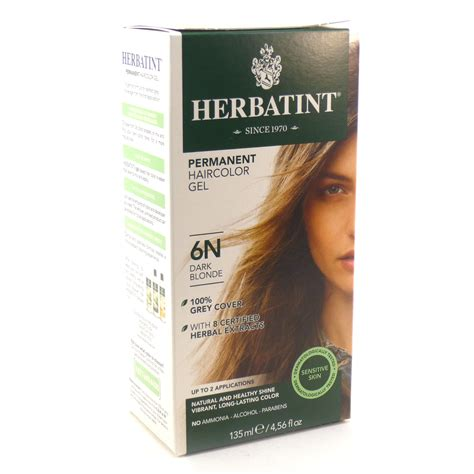 6n hair color herbal hair color 6n by herbatint hair products
