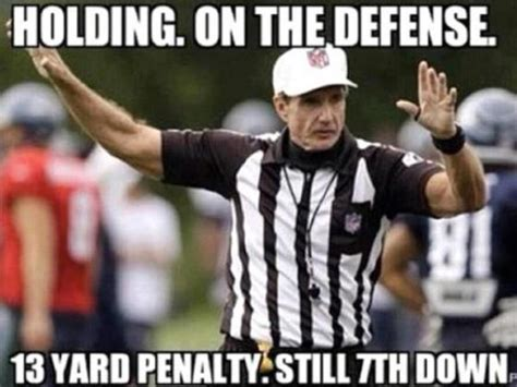 Nfl Ref Meme - announcers for the game released nessler and blackledge