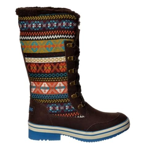 tribal pattern winter boots rocket dog rocket dog suri winter snow boot tribal brown