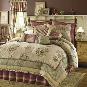 8p king antique rose comforter set tan burgundy rose nu ebay