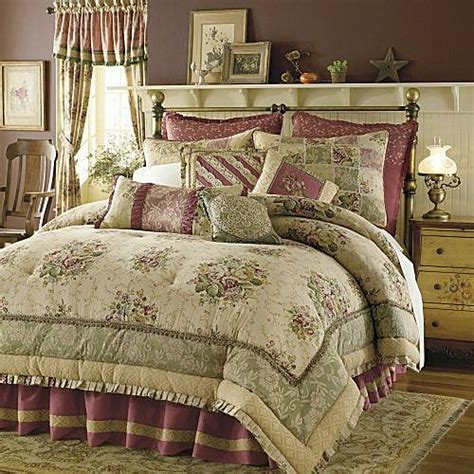 Antique Bedding Sets 8p King Antique Comforter Set Burgundy Nu Ebay