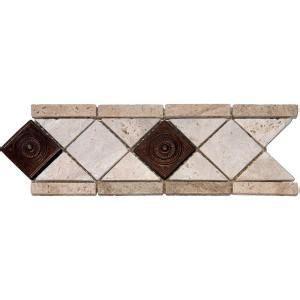 aaron lane copper tile ms international noche chiaro copper scudo 4 in x 12 in travertine metal listello floor