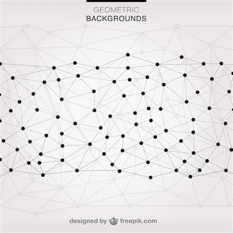 net pattern for physics geometric triangles connected with dots vector free download