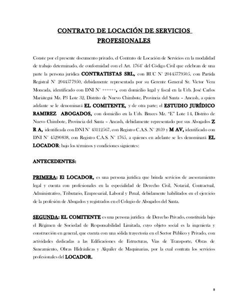 modelo de contrato de trabajo para el servicio domestico modelos de contratos civil v