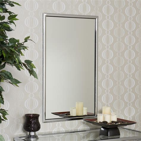 Mirrors Bathroom Wall Sei Vogue Chrome Wall Mirror Wall Mounted Mirrors