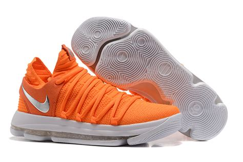 orange and white nike basketball shoes sale new arrival nike zoom kd 10 basketball shoes