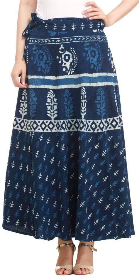 twilight blue wrap around skirt from pilkhuwa with