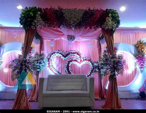 simple wedding stage decoration at home vizag indian