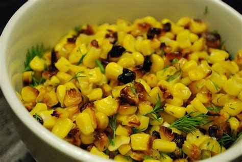 corn recipe roasted corn recipe with dill 4 points skillets sweet corn and corn side dishes