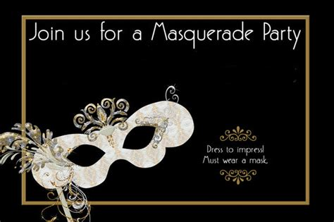 Masquerade Themed Invitation Templates how to design masquerade invitations