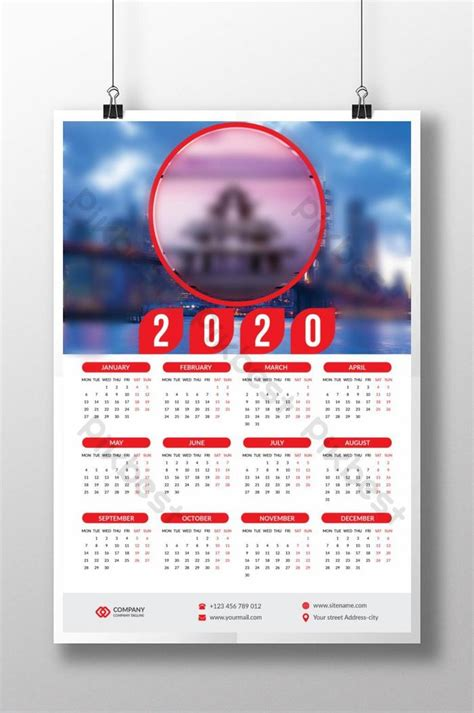 wall calendar design full year  page template ai   pikbest