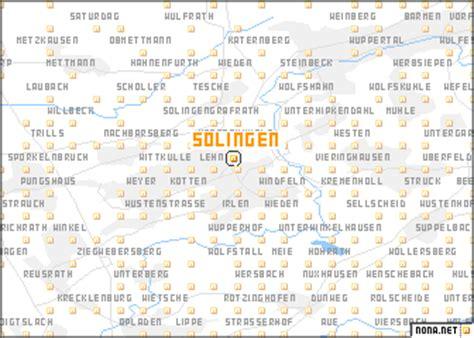 solingen map solingen germany map nona net