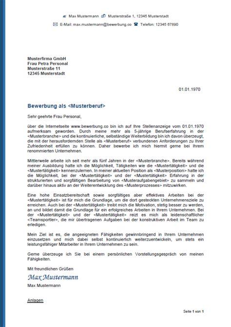 Bewerbungsschreiben Vorlage by Muster Bewerbungsschreiben Bewerbungsanschreiben 2018