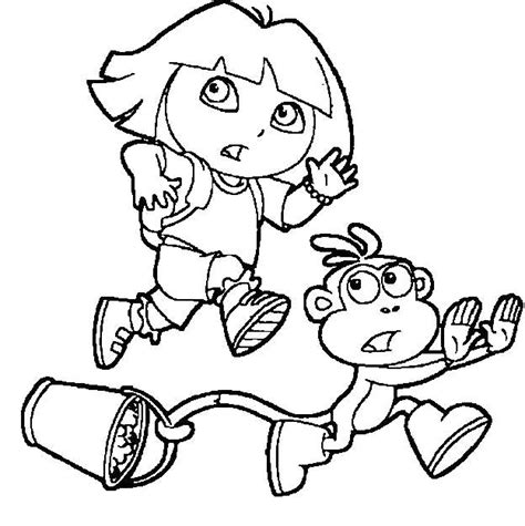 coloring pages dora and boots 166 best dora coloring pages images on pinterest dora