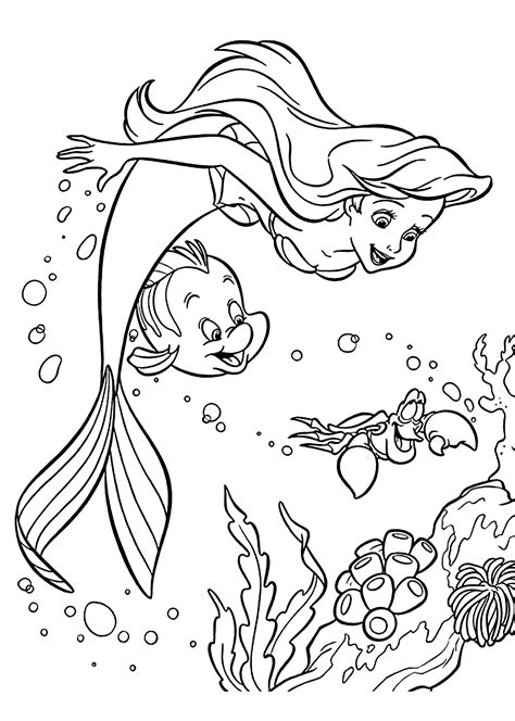 ariel coloring pages improved ariel and coloring pages sebastian