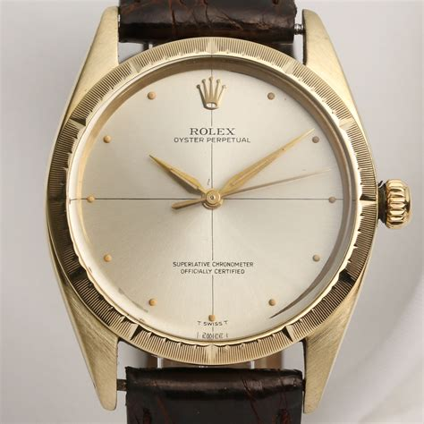 Rolex Oyster Rantai Gold rolex oyster perpetual 1008 14k yg watchcollectors co uk