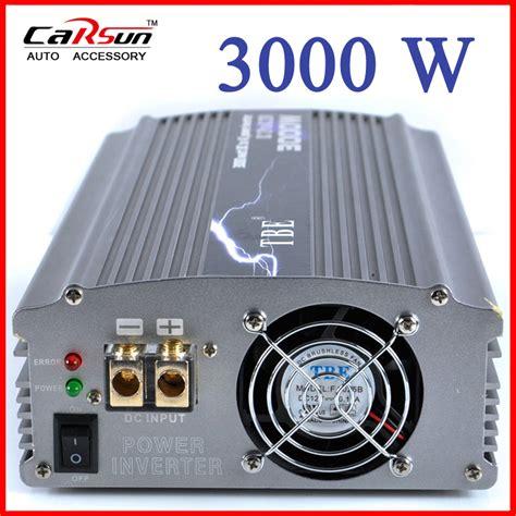 Sale Jual Power Inventer Dc 12v To Ac 220v Tbe 3000 Watt aliexpress buy tbe 3000watt 3000w modified sine wave car boat dc 12v to ac 220v power