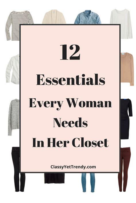 12 essentials every needs in closet yet