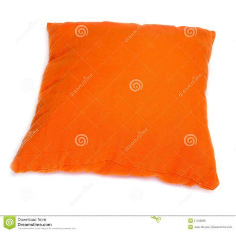 coussin orange coussin orange images libres de droits image 21026099