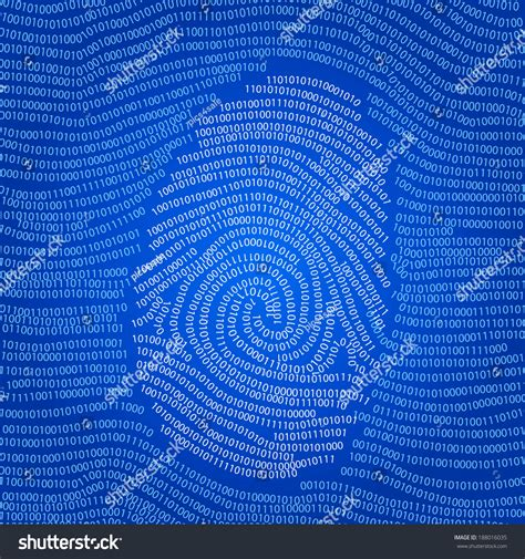 pattern html data fingerprint shape abstract vector background with digital