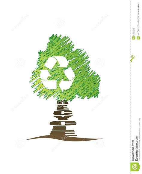 recycling artificial trees 11729 recycle tree stock vector image of green recycle environmentally 5685579