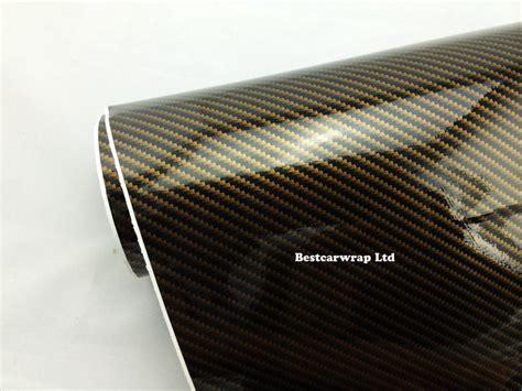 Carbon Folie Hoogglans by 2018 Gold 2d Gloss Carbon Fiber Vinyl Wrap Carbon Fiber