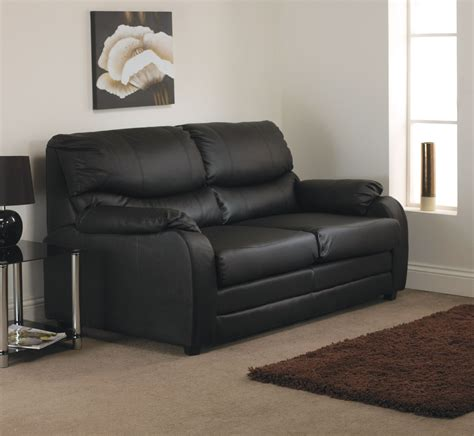 Two Seater Black Leather Sofa Black Faux Leather Two Seater Sofa Hereo Sofa