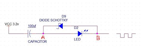 what is dioda flash flash led blinking with capacitor and schottky diode electrical engineering stack exchange