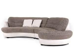 sofa halbrund roma ecksofa kunstleder stoffbezug ottomane rechts