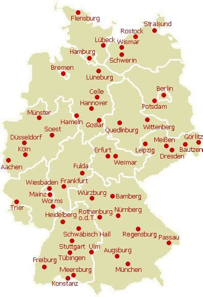 quermania karte st 228 dte in deutschland sch 246 nste st 228 dte - Städtekarte Deutschland